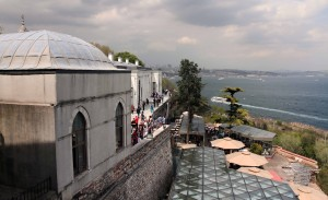 The Bosphorus, seen from Topkapi Palace.