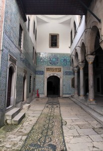 Forecourt next to the Dormitory of Black Eunuchs, inside the Harem.