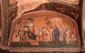 Mosaic inside the Church of the Holy Savior in Chora.