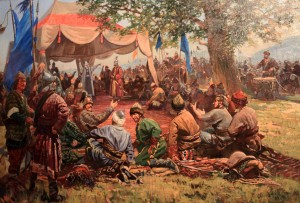 Painting depicting the foundation of the Ottoman State.