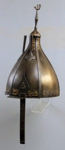 An Ottoman iron helmet from the 16th-century AD.