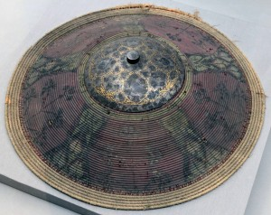 Ottoman shield from the 17th-century AD, made from wrapping silk thread over each willow branch.