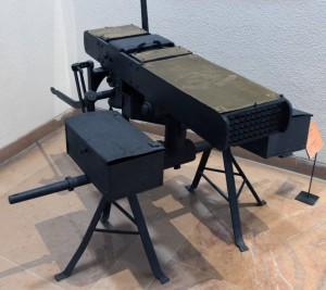 An American heavy machine gun from the 19th-century AD.