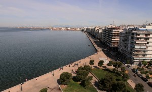 View of Thessaloniki's port, from the White Tower.
