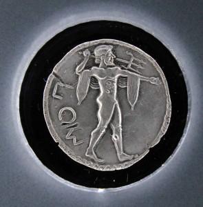 Coin from Poseidonia (520 BC).