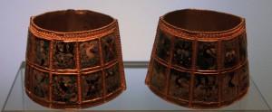 Bracelets with cloisonné enamel decoration (9th/10th-century AD).