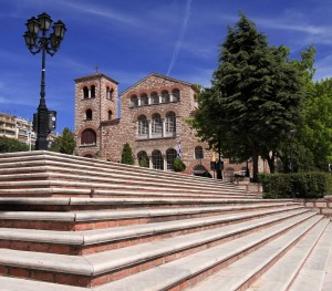 Steps leading up to the Church of Saint Demetrius.