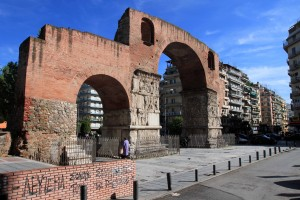 The Arch of Galerius, which was built in 299 AD and dedicated in 303 AD to celebrate the victory of the tetrarch Galerius over the Sassanid Persians and capture of their capital Ctesiphon in 298 AD.