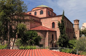 The Hagia Sophia in Thessaloniki, built in the 8th-century AD.