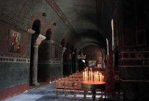 Aisle in the Hagia Sophia.