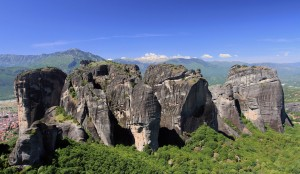 Rock pinnacles in Meteora.