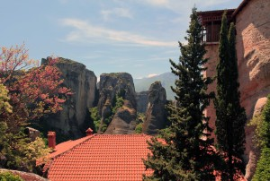 Rock pinnacles seen from Roussanou Nunnery.
