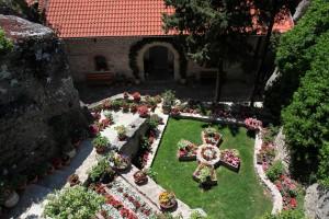 A flower garden in Roussanou Nunnery.