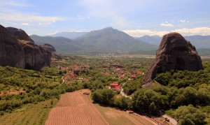 View of Kastraki, from St. Nicholas of Anapafsas Monastery.