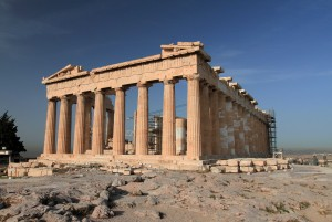 The Parthenon, seen from the east side.