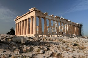 Another view of the Parthenon, which was built in 438 BC.