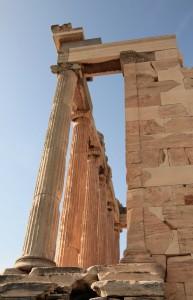 Colonnade on the Erechtheion.