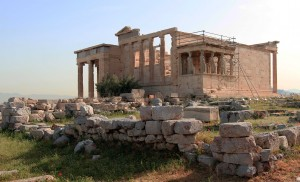 Another view of the Erechtheion.