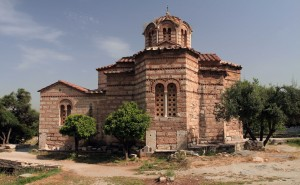 The Church of the Holy Apostles (which is built partly over the Nymphaion, having been constructed sometime around 1000 AD).