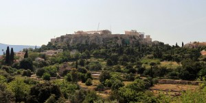 The Athenian Acropolis, seen from the Ancient Agora.
