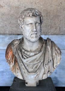 Portrait bust of the Emperor Antoninus Pius (138-161 AD).