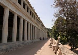 The restored Stoa of Attalos in the Ancient Agora.