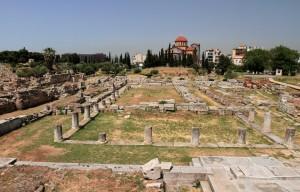 The Kerameikos archaeological site.
