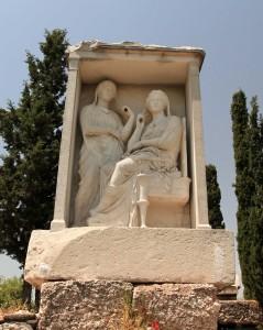 Funeral stele at Kerameikos.