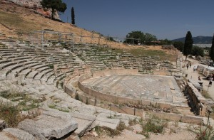 The Theater of Dionysus (located at the southern base of the Acropolis).