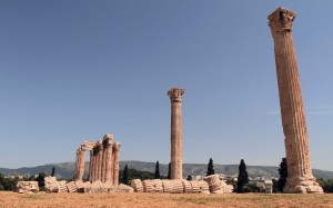 The remains of the Temple of Olympian Zeus.