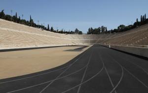 View of Panathenaic Stadium from its track.