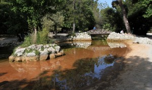 Pond in the National Garden in Athens.