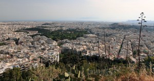 View of Athens from Mount Lycabettus.