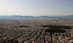 Another view of the sprawling metropolis of Athens, from Mount Lycabettus.