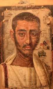 Male funeral portrait painted on linen, from Egypt (3rd-century AD).