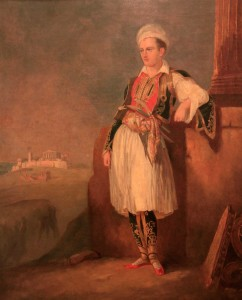 'Lord Byron in Greek costume on the Acropolis' by an anonymous painter.