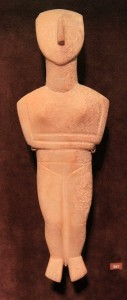 Cycladic figurine of a female (canonical type, Spedos variety).