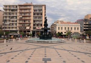 Georgiou I Square, the central square of Patra.