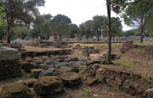 More ruins at the site of Ancient Olympia.