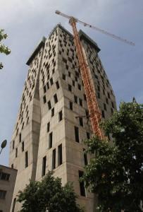 Skyscraper being built in Tirana.