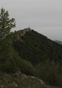 Mount Dajt, seen from Maja e Tujanit.