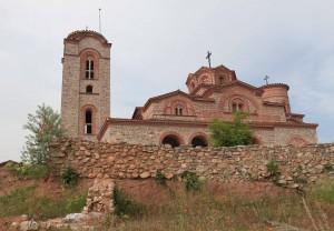 The church at the Monastery of Saints Pantelimon and Plaosnik.