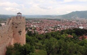 Looking at the new part of Ohrid from the fortress.
