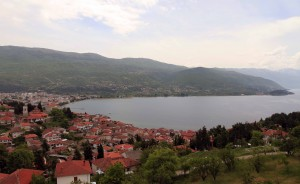 View of Lake Ohrid and the old town from the fortress.