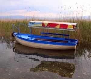 Boat in Lake Ohrid.