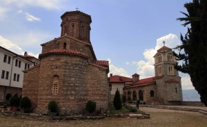 The church (on the left) and the chapel (on the right) in the monastery.