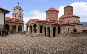 Another view of the church and the chapel inside St. Naum Monastery.