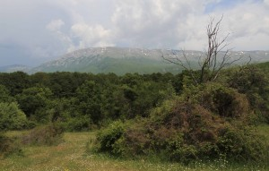 Another view of the Galičica Mountains.