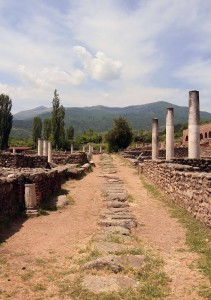 Street and sewage system (between the ruins of the courtroom and the thermae) at Heraclea Lyncestis.