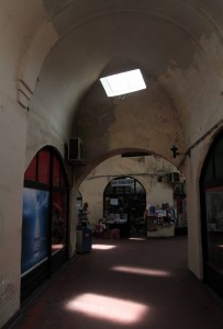 Inside the Covered Bazaar in Bitola.